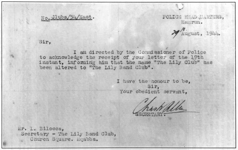Document is an undeniable proof that the Our Lady of Lilies Musical Society is indeed the first Musical Organization ever to be founded in Mqabba.