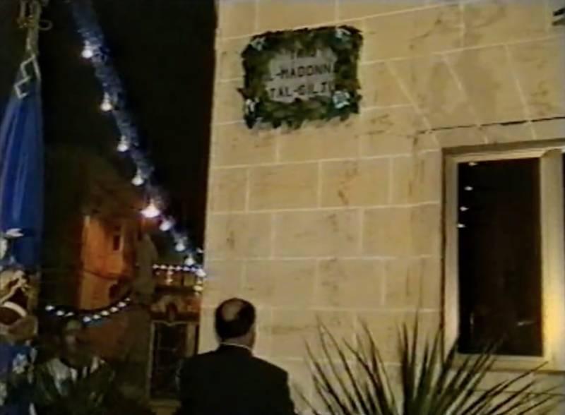 Opening of Triq il-Madonna tal-Gilju