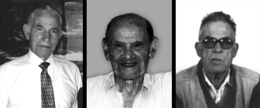 Gheruq is-Socjeta - Soċji veterani Mikiel Tanti, Elija Psaila u Saver Abdilla