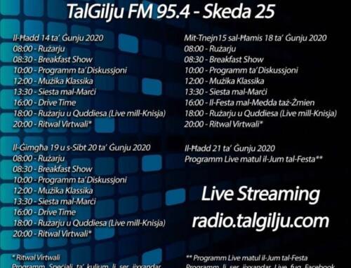 📻 25th Schedule for the Community Radio TalGilju FM 95.4
