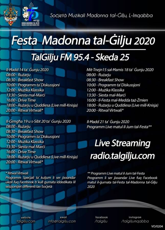 25th Schedule for the Community Radio TalGilju FM 95.4