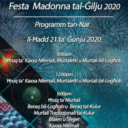 Fireworks Programme for the 2020 Feast.