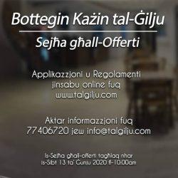 Reviżjoni tal-Offerta tal-Bottegin 2020