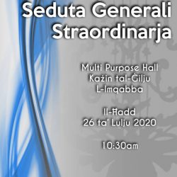 Extraordinary General Meeting by the Our Lady of the Lily Musical Society of Mqabba