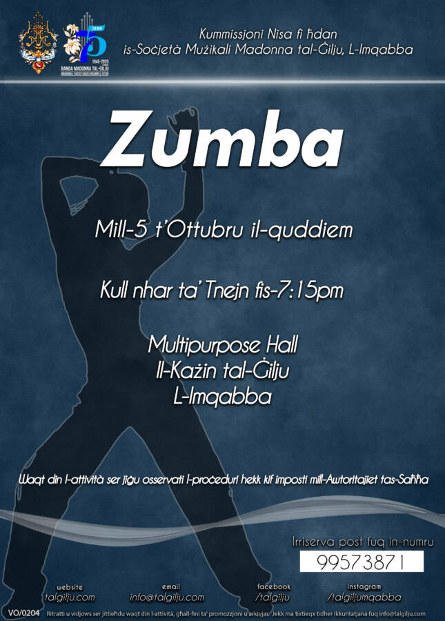 Zumba Sessions by the Our Lady of the Lily Women's Commission of Mqabba