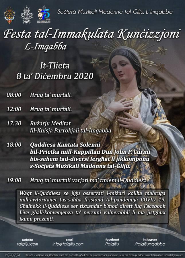 Poster Festa Kuncizzjoni 2020