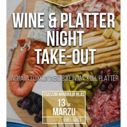 Wine & Platter Night Take Out