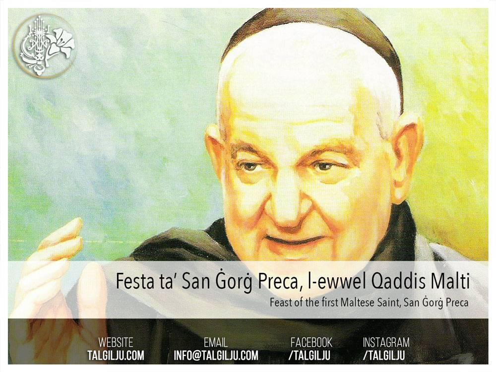 Feast of the first Maltese Saint, San Ġorġ Preca.
