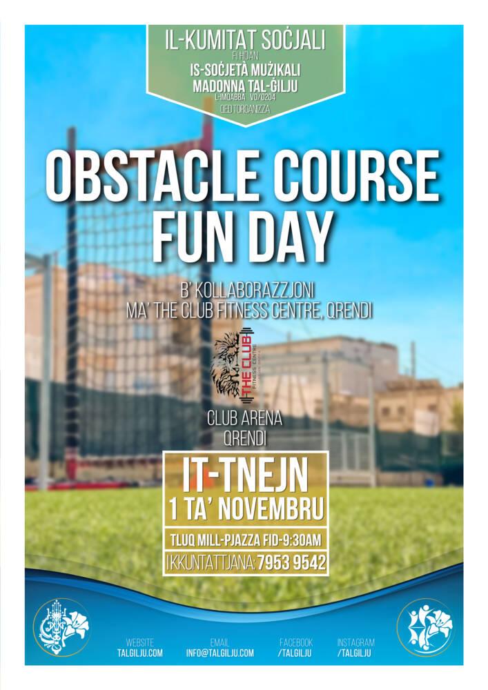 Obstacle Course Fun Day mill-Kummissjoni Soċjali Madonna tal-Ġilju, L-Imqabba